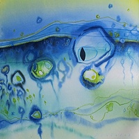 Watercolor Sea Creatures 6 by Lori Sokoluk