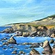 Oil painting Sonoma Coast 3 by Sophie Dassonville