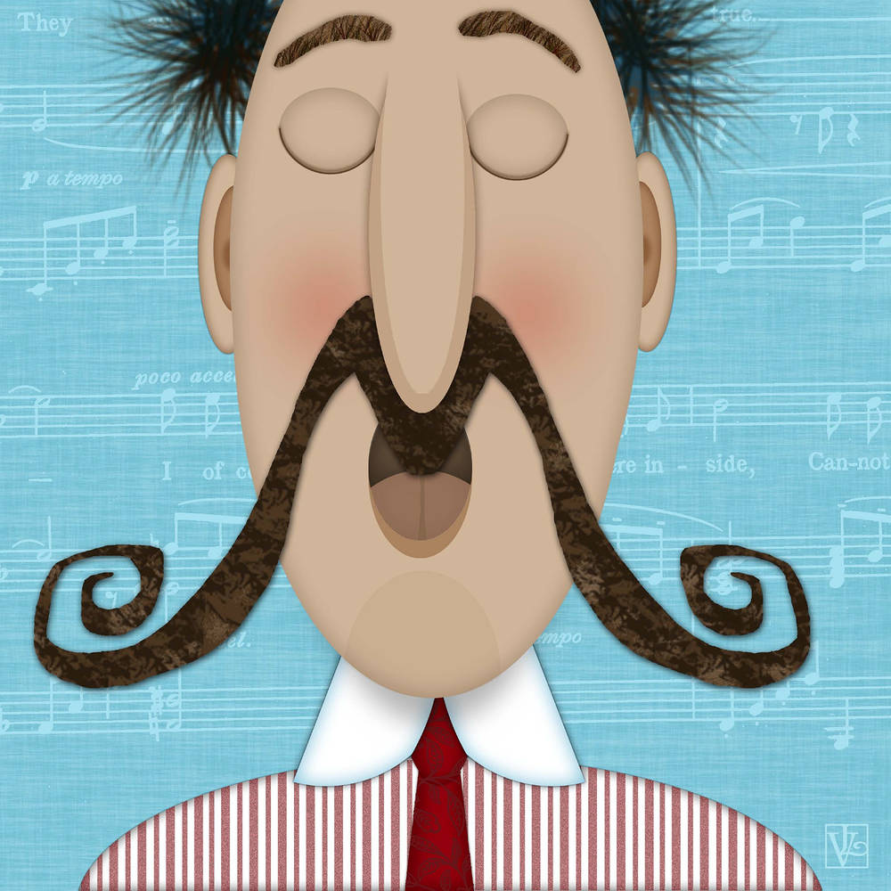 The Letter M is for Moustache by Valerie Lesiak