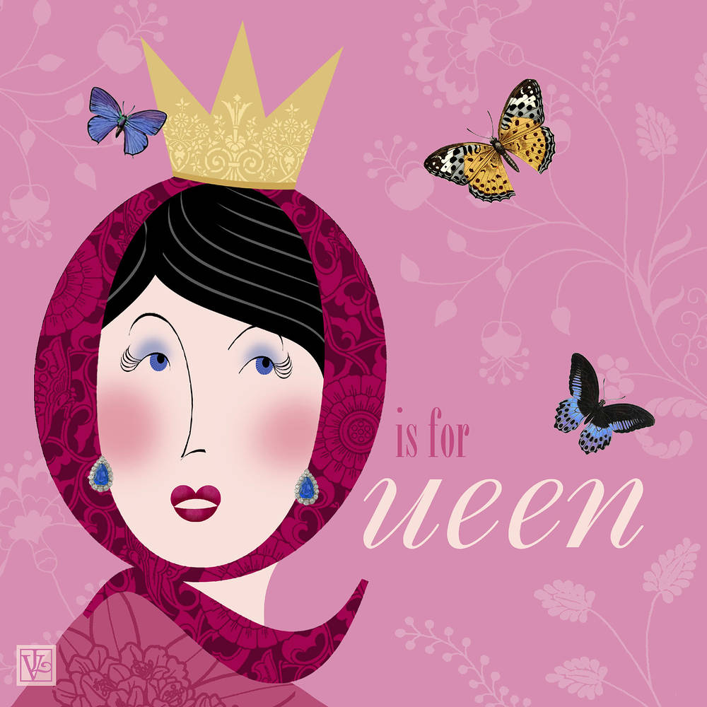The Letter Q is for Queen by Valerie Lesiak
