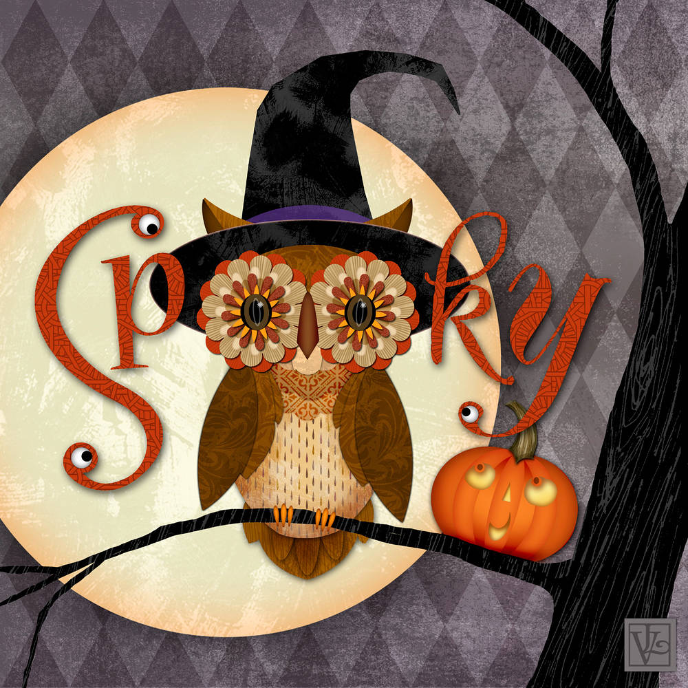 Scary Owl by Valerie Lesiak