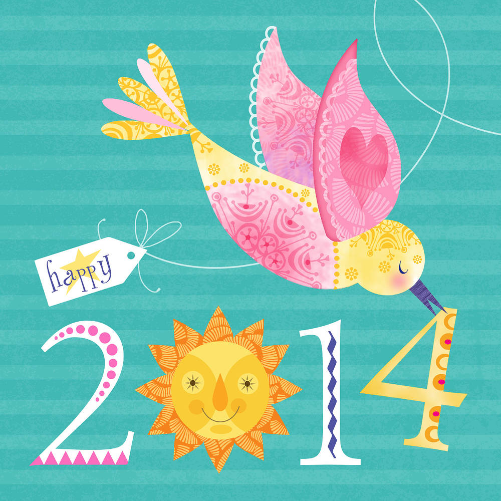 Happy 2014 by Valerie Lesiak