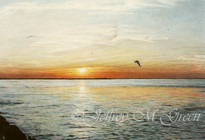 "© Jeffrey M Green. ""Sunset Over Barnegat Bay"", by Jeffrey Green"