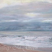 "Drawing © Jeffrey M Green. ""Cloudy Dawn"", pastels on pastel paper, 8 1/2"" x 11"".  by Jeffrey Green"