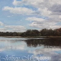 "© Jeffrey M Green. ""Minsi Lake"", 11"" x 14"", pastels.  by Jeffrey Green"