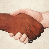 "Drawing © Jeffrey M Green. ""Respect for Others"", 15"" x 22"", colored pencils. by Jeffrey Green"