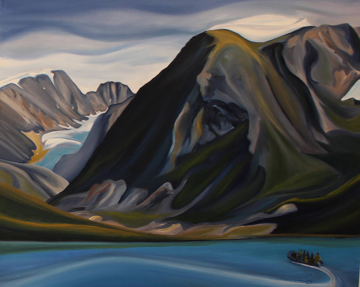 Oil painting Three Years Later - Land that Melts by Linda Lang
