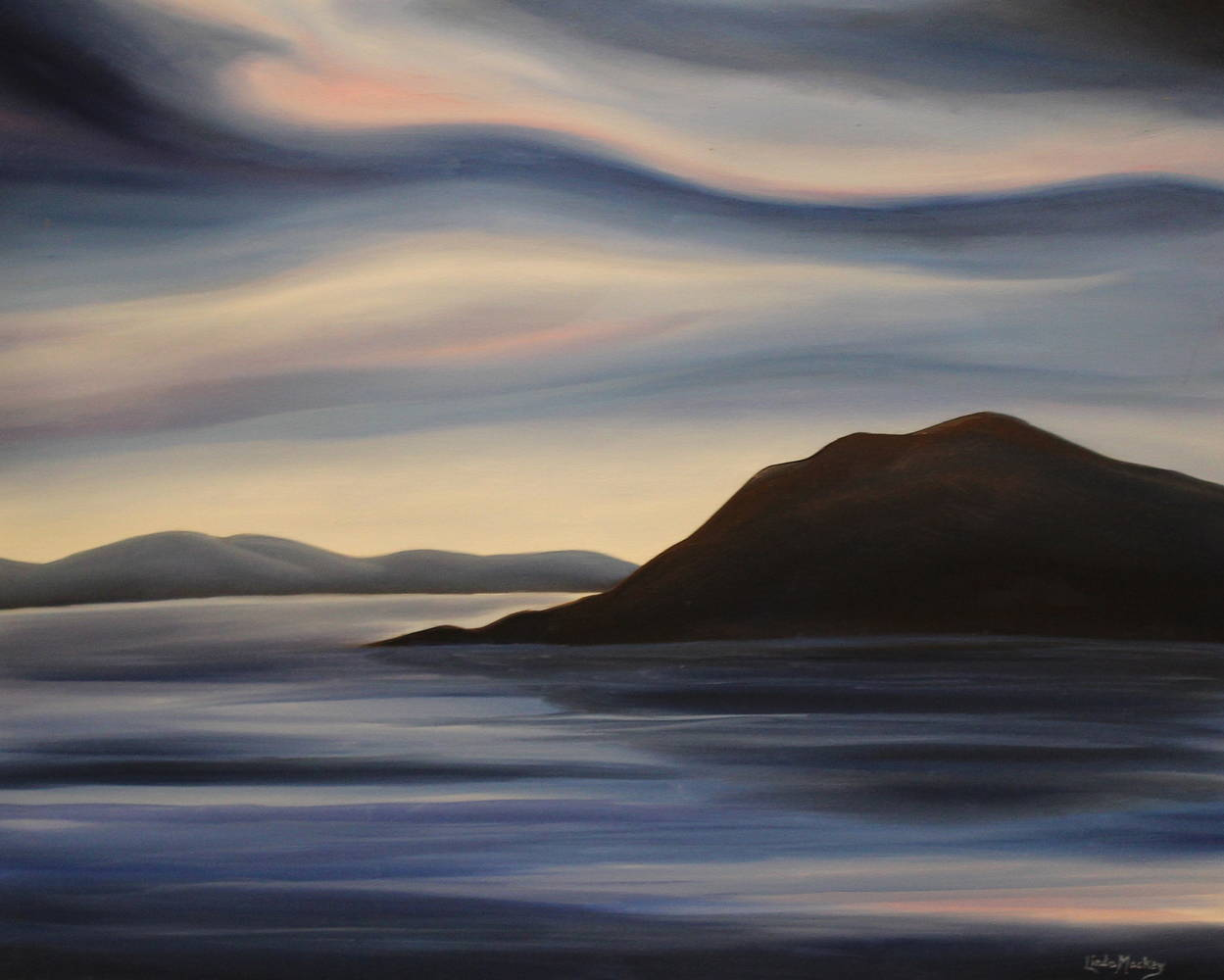 Oil painting Leaving Iqaluit by Linda Lang