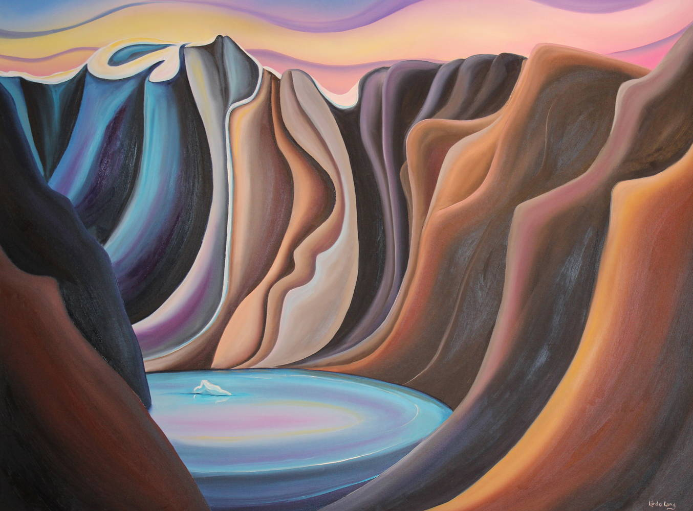Oil painting Colours of South Baffin by Linda Lang