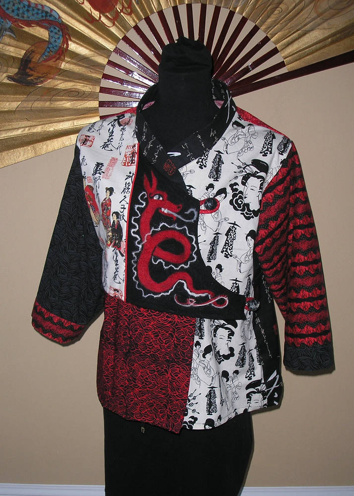 Print Asian Fusion shirt by Valerie Johnson