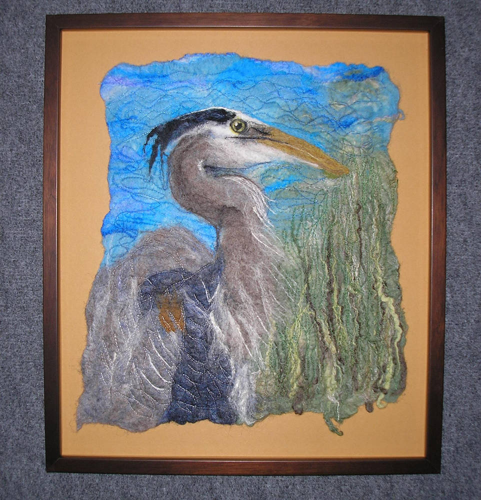 Blue Heron by Valerie Johnson