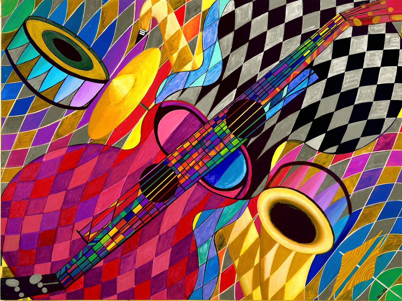 Acrylic painting ALL THAT JAZZ by Richard Robertson