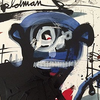 Painting Monkey Sketch by Joey Feldman
