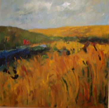 Acrylic painting Field #4 by Yvonne Foster