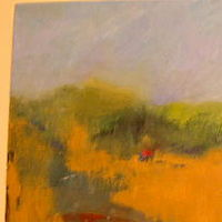 Acrylic painting Field #3 by Yvonne Foster
