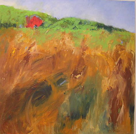 Acrylic painting Field #2 by Yvonne Foster