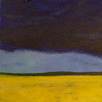 Acrylic painting Approaching Storm by Yvonne Foster