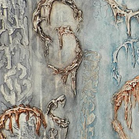 Mixed-media artwork Ghosts from the Past by Karen Holland