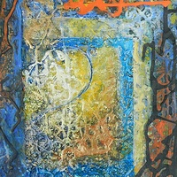Mixed-media artwork Illuminated Letter by Karen Holland