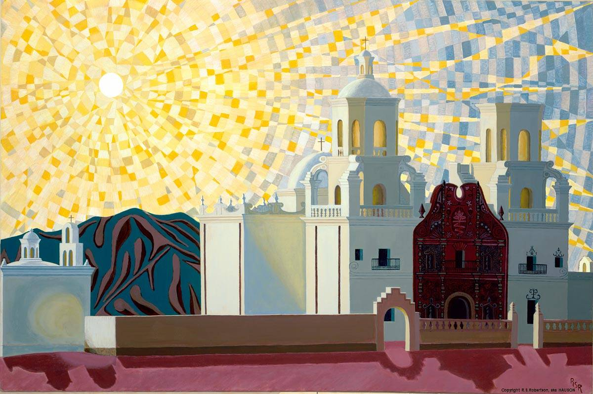 Acrylic painting The Mission by Richard Robertson