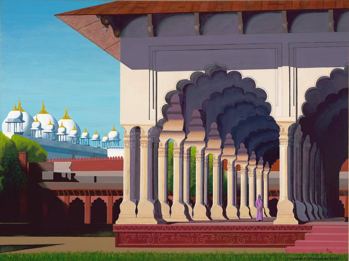 Acrylic painting AFTERNOON IN AGRA by Richard Robertson