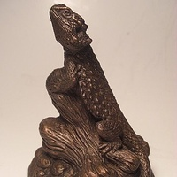Painting Bearded Dragon sculpture (mini) by Jason  Shanaman