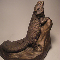 Painting Bearded Dragon sculpture by Jason  Shanaman