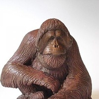 Painting Orangutan sculpture Sumatran by Jason  Shanaman