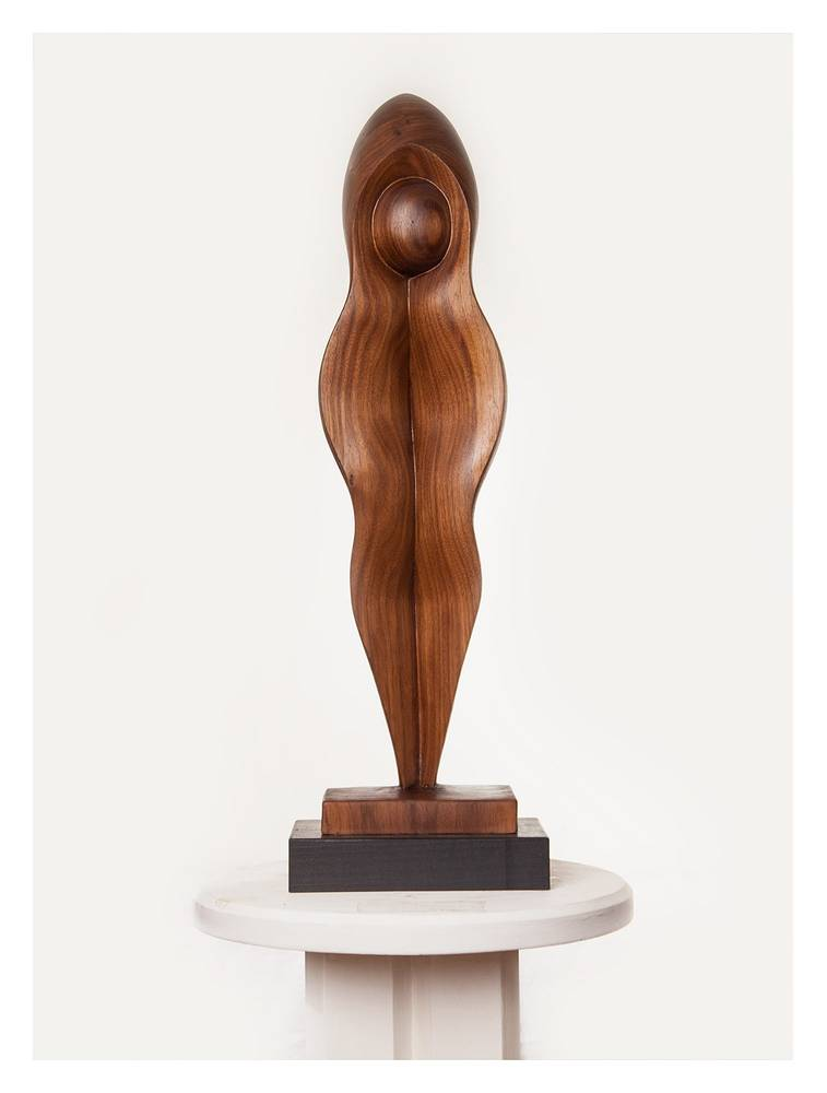 Untitled 13, Walnut - 27 x 6 x 4 inches by Larry Scaturro