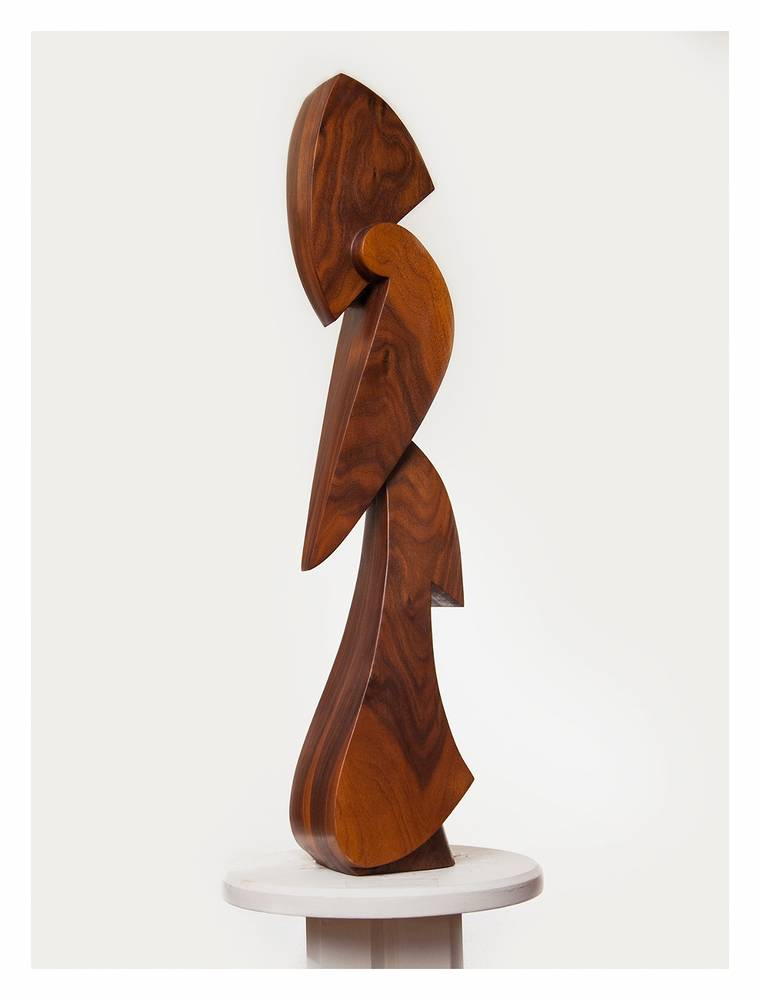 Untitled 14, Walnut - 8 x 6 x 36 inches by Larry Scaturro