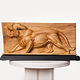 Big Cat, Oak - 18 x 9 x 4 Inches by Larry Scaturro