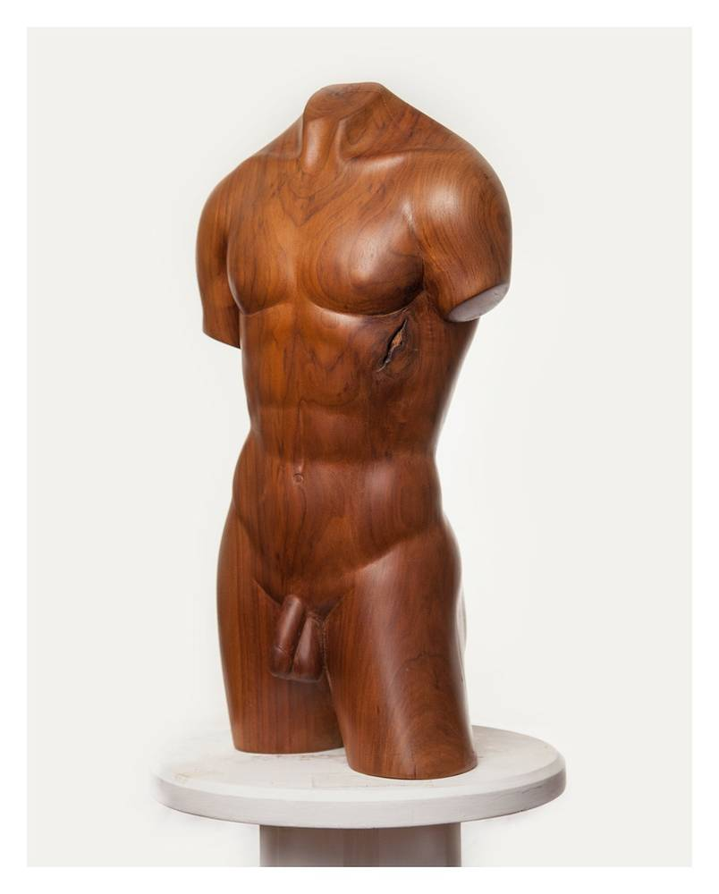 Youth, Walnut - 29 x 13 x 7 inches by Larry Scaturro