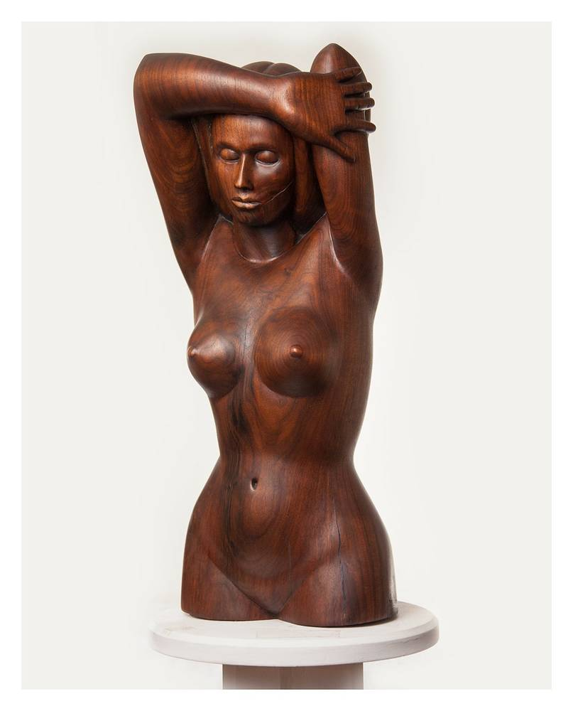 Daphne, Walnut - 31 x 15 x 7 by Larry Scaturro