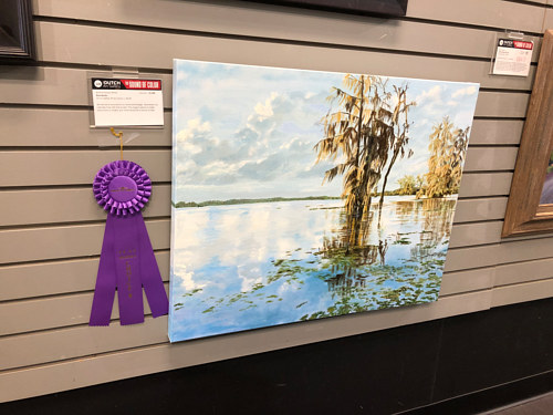 winner of the people s choice award at sound of color spring show at dutch art gallery in dallas texas